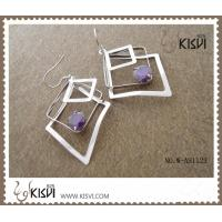 China 925 fashion sterling silver gemstone earrings with competitive price W-AS1123 wholesale