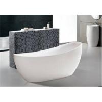 China Extended Backrest Acrylic Massage Bathtub / Stand Alone Tubs Easy Installed wholesale