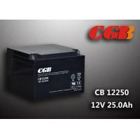 China Black CB12250 Valave Regualted Energy Storage Battery 12V 25Ah For UPS wholesale
