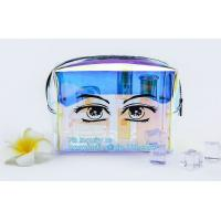 China Women makeup organizer travel toiletry bags/ transparent PVC cosmetic, bag with cotton binding, makeup bag pvc cosmetic on sale
