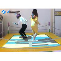 China Playground Interactive Floor Projection Games Trampoline 2.1 X 2.1M Easy Installation wholesale