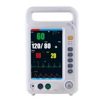 China 7 Inch Color Screen Multi Parameter Patient With 4 Standard Parameters ECG, NIBP, SpO2, RESP Built-in Lithium Battery wholesale