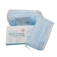 China in stock 3 ply disposable nonwoven adult face mask with ear-loop wholesale