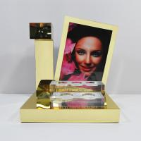 China LED Acrylic Perfume Retail POS Displays With Gold Magnetic Levitation wholesale