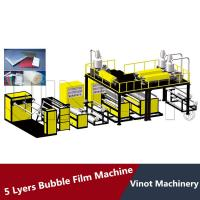 China HDPE LDPE LLDPE 5 Layers Bubble Wrap Making Machine 38CRMOLA Screw Material , Polyethylene Bubble Film wholesale