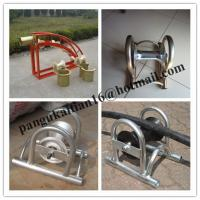 China cable roller, galvanized,Cable roller with ground plate,Cable Guides rollers wholesale