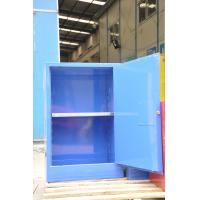Quality Blue Chemical Corrosive Storage Cabinets 12 GAL With Door for Acid Liquid for sale