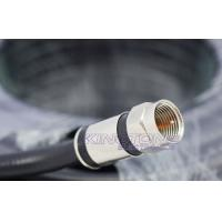 China Digital Camera Transmit CATV Coaxial Cable RG6 in 20M Black with Compression Connector wholesale