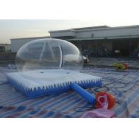 China Christmas Inflatable Snow Globe / Clear Bubble Tent With Air Mattress and Zipper wholesale