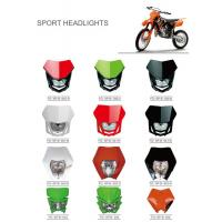 Various Colors Led Motorcycle Driving Lights , Led Motorcycle Headlight New ABS Material