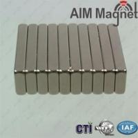 China Super Strong Block Magnets Rare Earth Neodymium 20x10x1.5mm N35 wholesale