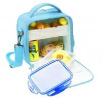 China Picnic Cooler Childrens Lunch Bags Sky Blue Color 600D Nylon wholesale