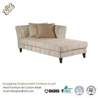 China Modern Leisure Linen Chaise Lounge Couch For Hotel , Velvet Chaise Lounge wholesale