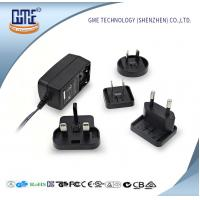 China Interchangeable Plug AC DC  Wall Adapter 24w Max Output With LED Light wholesale