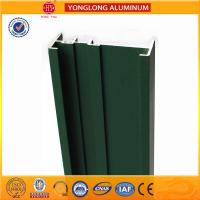 China Square Green Powder Coated Aluminum Alloy Extrusion With Strong Stability on sale