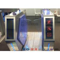 Quality Access Control Automatic Flap Barrier Gate Walk Through Optical Turnstile for sale