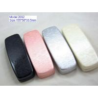 China Custom Optical Glasses Case PU Leather / PVC Leather Material With Silk Screen wholesale