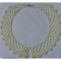 China Various White Hand knit retiary pearl bead collar for women / lady's dress on sale