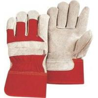 Grey cow split leather abrasion resistance red leather protective