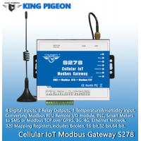 Buy cheap S278 Cellular IoT Modbus Gateway(4DIN,2Relay,1TH,USB,RJ45,RS485,320 Mapping Registers) from wholesalers