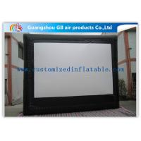 China Custom Frame Style Inflatable Movie Screen / Theater Screen For Outside Garden Film wholesale
