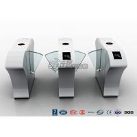 China Half Height Access Control Turnstile Automatically Flap Barrier With Acrylic Flap wholesale