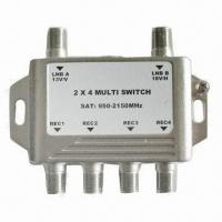 China 2-way CATV Switch with Nickel Plating, Available in Various Frequency Ranges wholesale