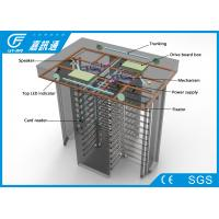 China Automatic / Hand - Push Full Height Turnstile Gate Channel Width 550 - 600mm 25 Persons / Min wholesale
