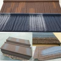 China Long Lifespan Stone Coated Steel Roofing Tile Excellent Fire Resistance wholesale