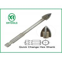 China Hex Shank Metric Masonry Drill Bits Cross Carbide Tip For Glass / Ceramic Tile wholesale
