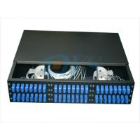 China 19 Inch Rack Mount Odf Optical Fiber , 2U 48 Core Optic Patch Panel Odf wholesale
