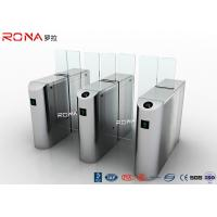 China 304 Stainless Steel Sliding Barrier Gate 220AC Sevor Motor With Full Height Glass wholesale