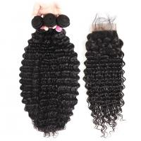 China No Tangle 100% Virgin Human Hair Extensions And 4 X 4 Closures wholesale