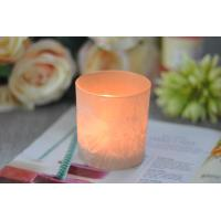 China Gifts Tealight Glass Candle Holder Orange Romantic Heat Resisting wholesale