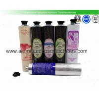 China Hand Cream Collapsible Aluminum Squeeze Tubes Food Grade Inner Coating Light Weight on sale