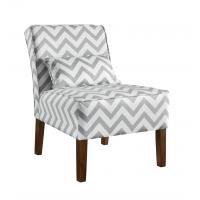 Patterned Upholstered Accent Chairs Tight Back , Low Back Living Room Chairs