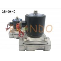 China 2S Series Stainless Steel Electronic Water Solenoid Valve 1-1/2'' Thread Pipe Size wholesale