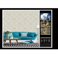 Buy cheap Wet Embossed Vinyl Vintage Damask Wallpaper For Living Room , ISO Approved from wholesalers