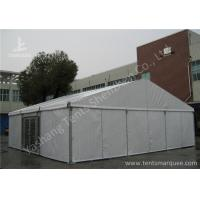 China Aluminum Alloy Framed Heavy Duty Event Tents With Glass Door and Fabric Cover wholesale