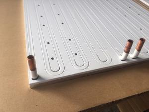 China 395*395*10 mm Aluminum Powder Coated Cold Plate 99.5% LF Solar Panel Water Cooled Heat Sink wholesale