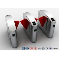Quality Flap Barrier Gate High Security Turnstile Entry Systems  Waist Height Turnstiles 550mm Passage Width for sale