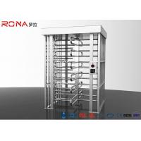 China Semi - Auto Pedestrian Turnstile Gate Full Height 30 ~35 Persons / Minute wholesale