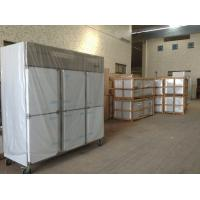 Quality Deep Commercial Upright Freezer 1600L 6 Glass Doors With Plastic Coated Steel for sale