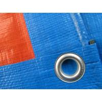 China 180gsm blue/orange PE tarpaulin sheet with eyelets and pp rope reinforced wholesale