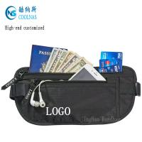 Quality Mens RFID Hidden Ripstop Nylon Money Belt Travel Black Color for sale