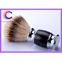 China Hand made silvertip badger shaving brushes with real black ebony handle wholesale