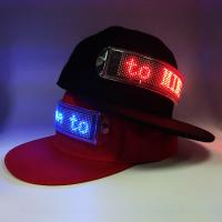 Quality Flashing scrolling message LED cap which canbe changed the message by client's phone for sale
