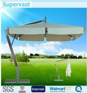 China 10X10FT Square Offset Patio Umbrella , Extra Large Patio Umbrella For Sunshade wholesale