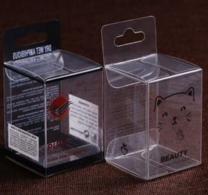 China Customized Folding Printed PVC Box , Fashion Heat Seal Clear Plastic Box on sale