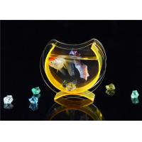 Quality Small Acrylic Fish Tank / Desktop Fish Bowl With Cololful Stones for sale